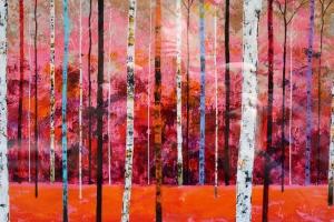 stand of urban birch
