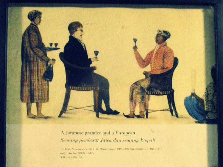 Javanese grandee and a European
