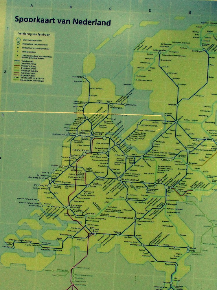 railway map of Holland
