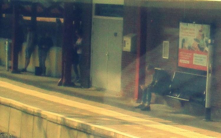 on a platform of the station
