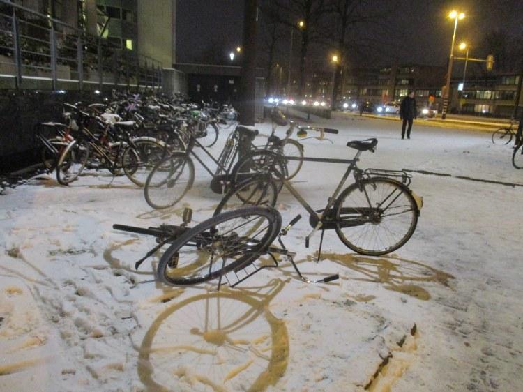 winter bikes of utrecht